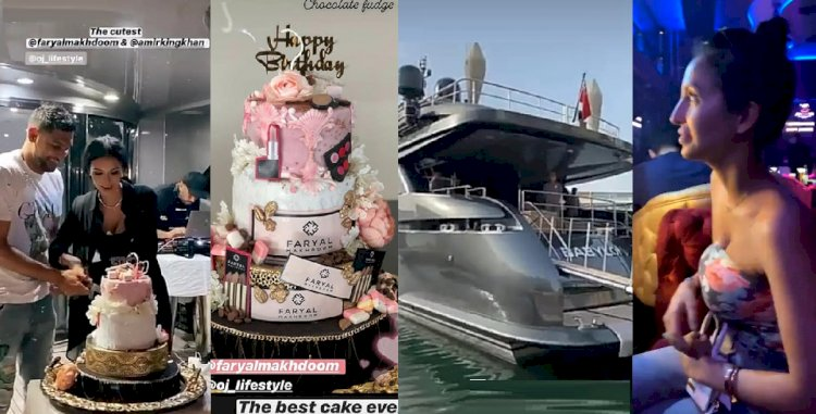 Amir Khan Gushes Over Faryal, Lavishes Her 29th Birthday Party at Luxury Yacht in Dubai