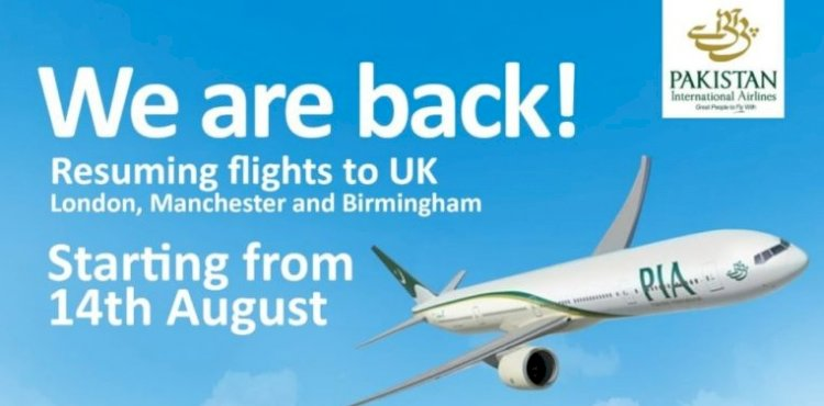PIA To Resume UK Flights With European Charter Aircrafts (Pakistan International Airlines)